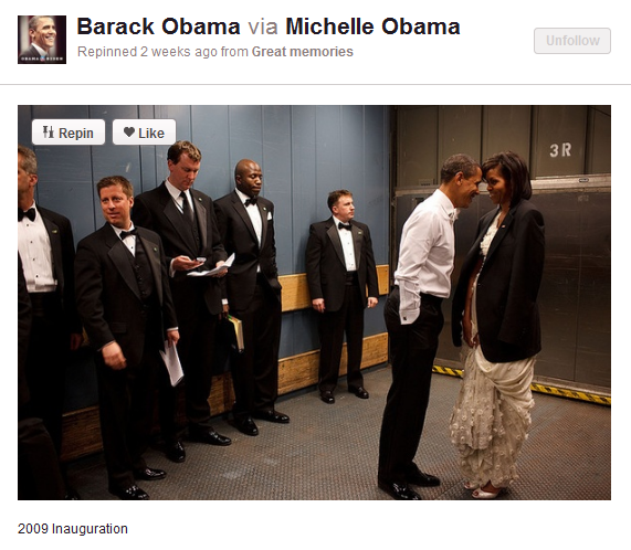 obama account on pinterest