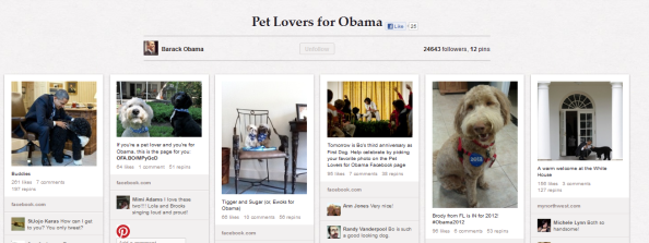 barack obama pinterest account