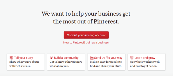 Business account pinterest