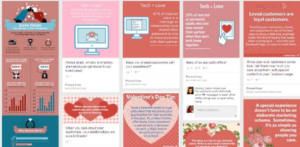 I migliori brand su Pinterest a San Valentino